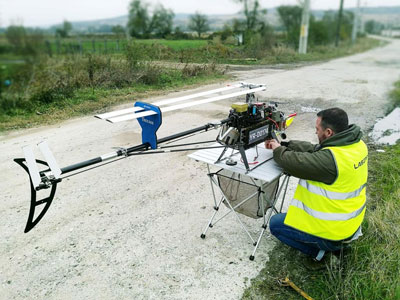 UAV found 50 km of undocumented lines of Romanian power grid